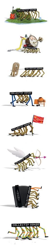 Les-logos-du-collectif-gonzo