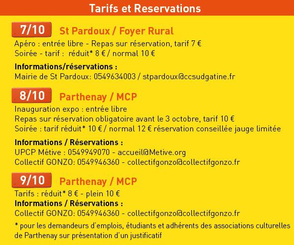 Tarif et reservation sorties de chantiers 16